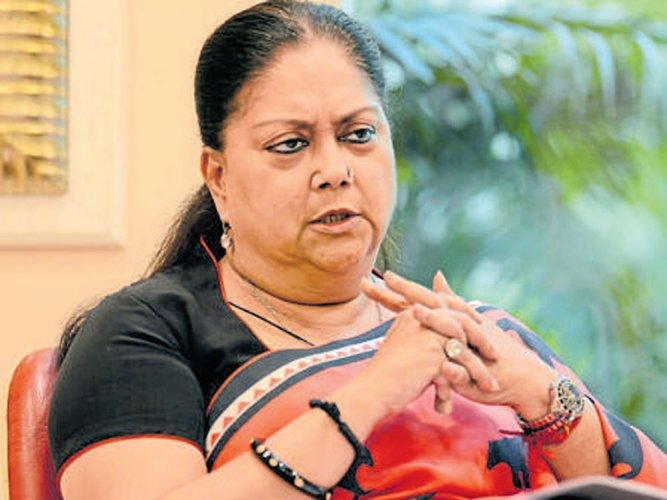 Rajasthan Chief Minister Vasundhara Raje. File photo