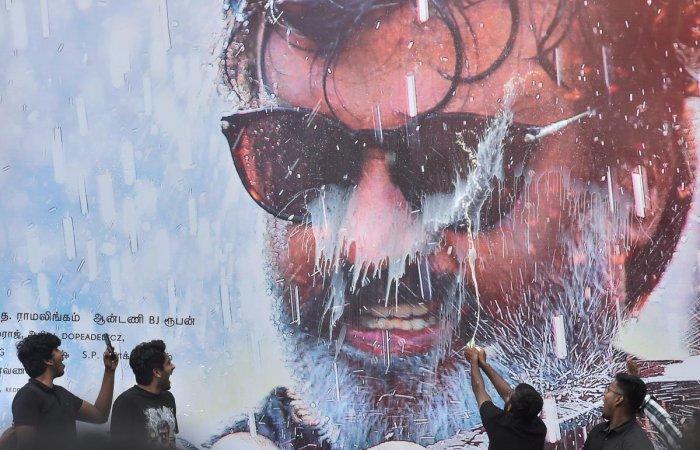 Rajnikanth fans celebrate the release of his film 'Kaala', in Chennai. (PTI File Photo)