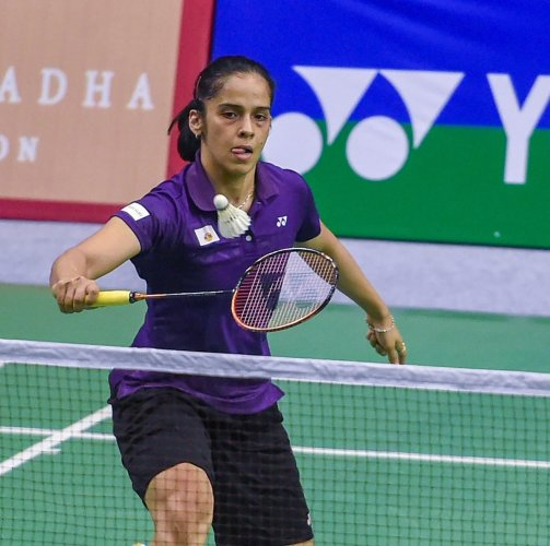 Saina Nehwal beat China's Zhou Zeqi to enter the last four stage of the Syed Modi International badminton championships in Lucknow on Friday. PTI File Photo