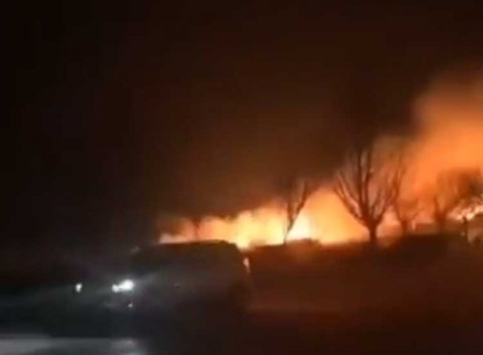 The explosion occurred at Jiangcheng Machinery Company based in a village in Dongfeng county on Friday, state-run China Daily reported. (Screengrab)