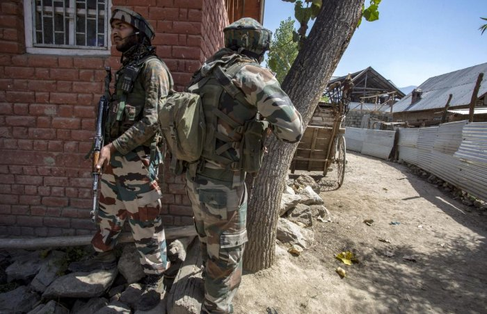 "Srinagar-based defence spokesperson Col Rajesh Kalia said the Army did not open fire and the civilian was injured in a ""terrorist committed atrocity"". PTI File Photo"
