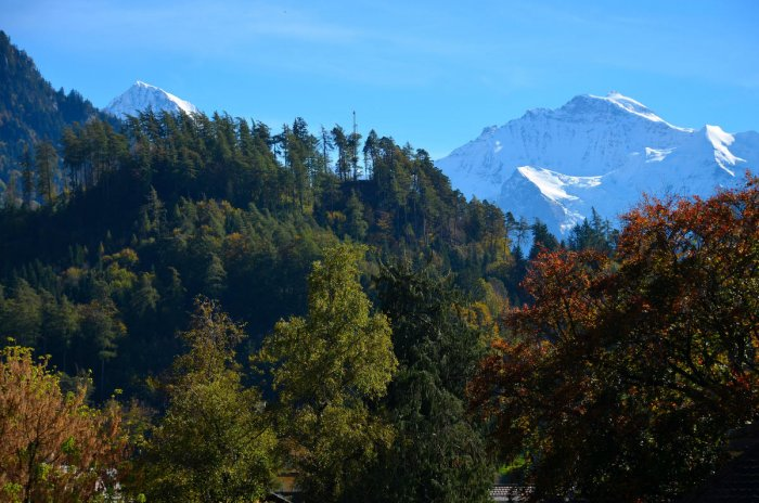 A view of the mountains in Interlaken
