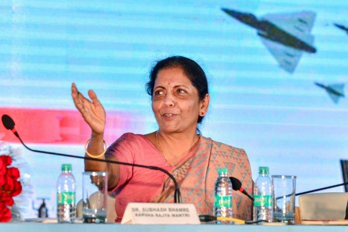 Defence Minister Nirmala Sitharaman.