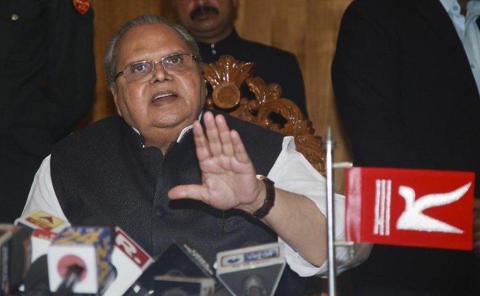 J & K Governor Satya Pal Malik. (PTI File Photo)