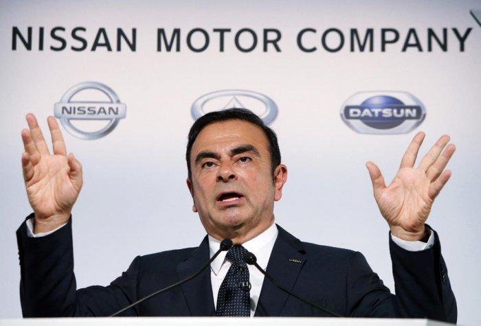 Japan's auto giant Nissan Motor president Carlos Ghosn