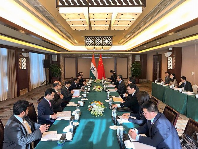 Indian and Chinese officials during the 21st round India-China Border talks at Dujiangyan city in Sichuan province, China, on November 24, 2018. PTI