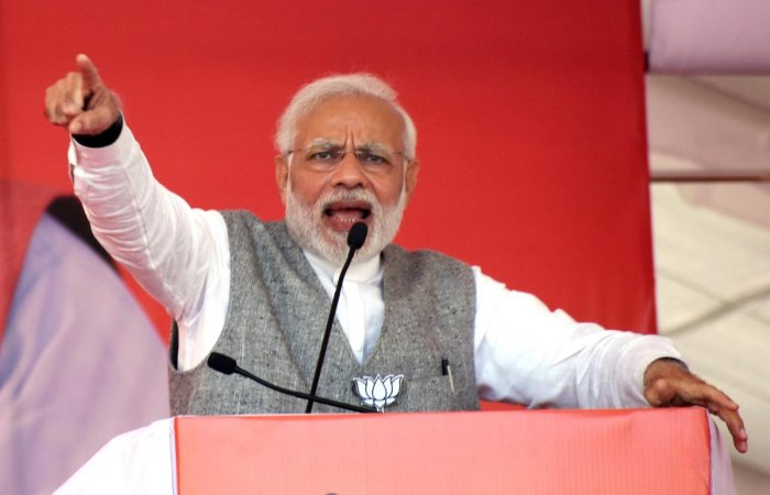 """Prime Minister Narendra Modi said on Sunday he deliberately kept """"politics"""" out of his monthly radio address 'Mann ki Baat' as the programme was about the aspirations of the people and not his or the government's achievements. PTI photo"""