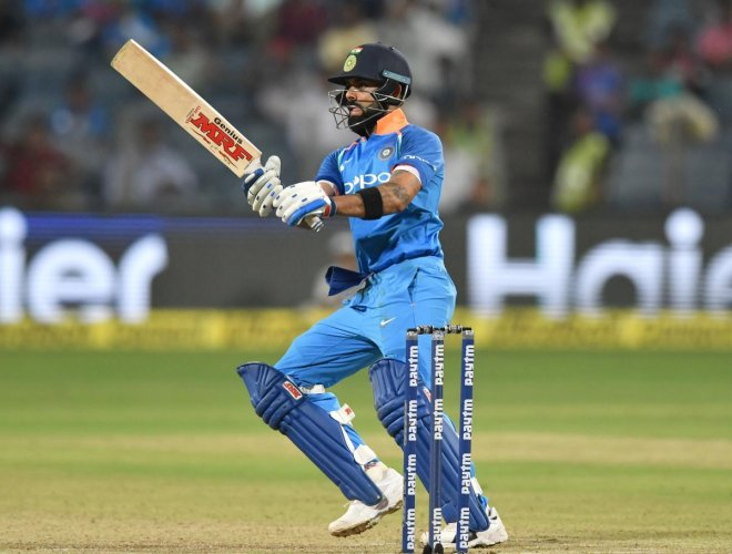 Captain Virat Kohli smashed an unbeaten 61 to steer India to victory in the third and final Twenty20 against Australia in Sydney on Sunday, ensuring the series ended all square. (AFP Photo)
