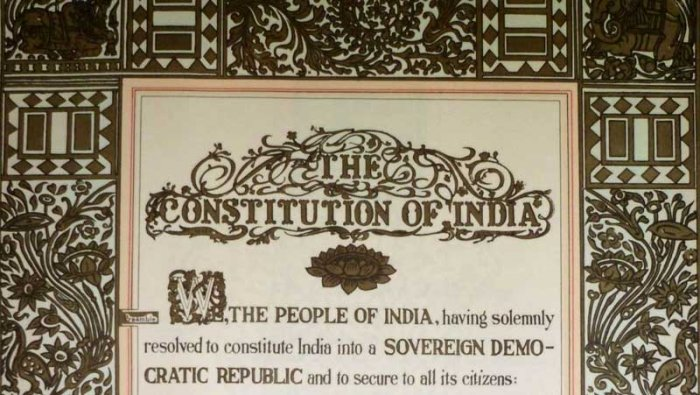 Constitution Day is celebrated every year on November 26 to mark the adoption of the Indian Constitution by the Constituent Assembly in 1949. (Image tweeted by @VPSecretariat)
