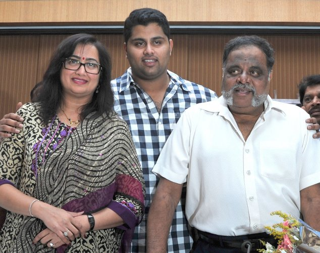 "Dr Satish described Ambareesh as more than a patient. ""He was more of a friend. After the treatment in Singapore, he had got a second chance. I was with him. He had suffered a lot,"" he remembered. (Above: A family photo of Ambareesh)"