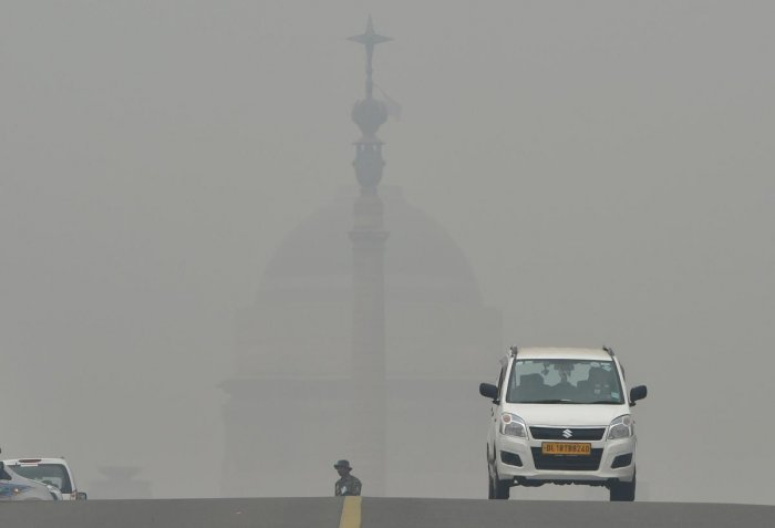"The overall air quality index (AQI) was recorded at 320 -- in the ""very poor"" category, according to data from the Central Pollution Control Board (CPCB). (PTI File Photo)"