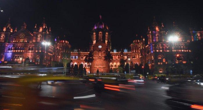 Mumbai: A view of Chatrapati Shivaji Maharaj terminus on the eve of the tenth anniversary of the 26/11 terror attack in Mumbai, Sunday, November 25, 2018 (PTI Photo/Shashank Parade)(PTI11_25_2018_000233B)