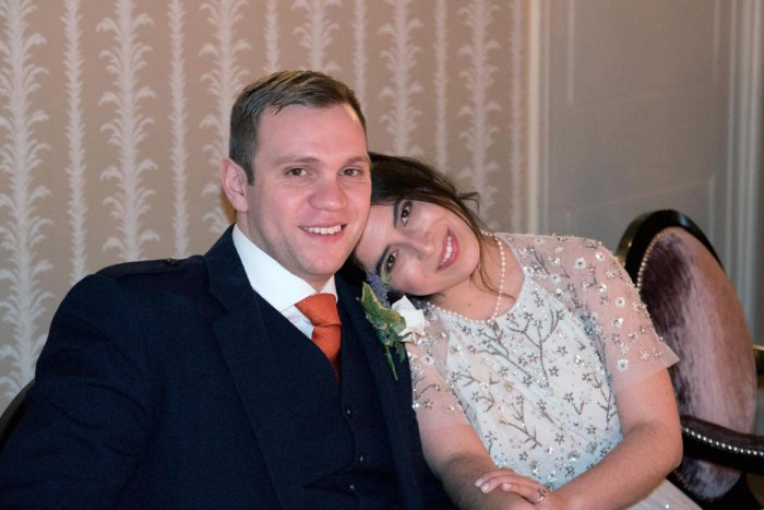 A handout picture taken in January 2017 and released by the family of Matthew Hedges in London on November 23, 2018, shows British student Matthew Hedges and his wife Daniela Tejada. AFP File