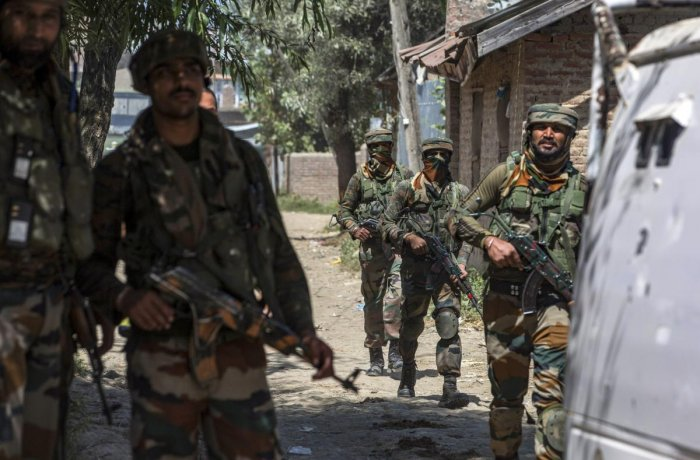 They said authorities have decided to launch a massive operation in south Kashmir areas to check the alarming trend of militants going after relatives of police personnel. PTI photo