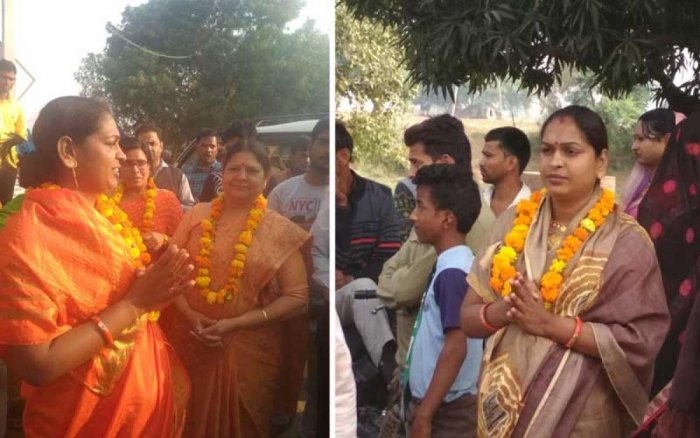 Transgender Neha Kinner's election campaign in Ambah seat in Bhind, which was notorious for bandits in past, draws huge crowds. Will Chambal rewrite a gender history? (DH Photo/Anand Mishra)