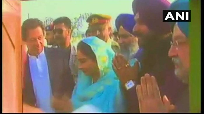 The Kartarpur Corridor, which will facilitate the visa-free travel of Indian Sikh pilgrims to Gurdwara Darbar Sahib in Kartarpur, is expected to be completed within six months. (Image courtesy ANI/Twitter)