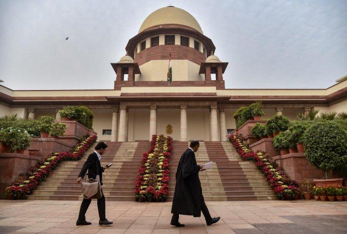 New Delhi: A view of Supreme Court of India in New Delhi, Thursday, Nov. 1, 2018. PTI Photo.