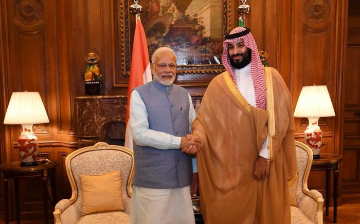 The two leaders, who are currently in Argentina for the G20 summit, met in the prince's residence in Buenos Aires and discussed Saudi Arabia's readiness to supply India with oil and petroleum products.