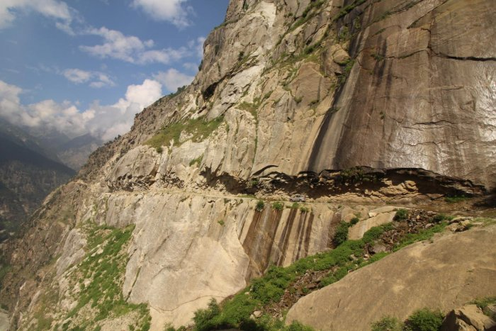 A view of 'The Cliffhanger' road