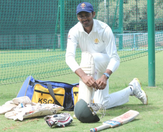 Cricketer Smaran R. DH Photo Srikanta Sharma R.