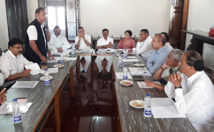 A meeting of Kodagu Prakruthika Vikopa Matthu Nere Santhrastara Samithi was held in Madikeri on Saturday.