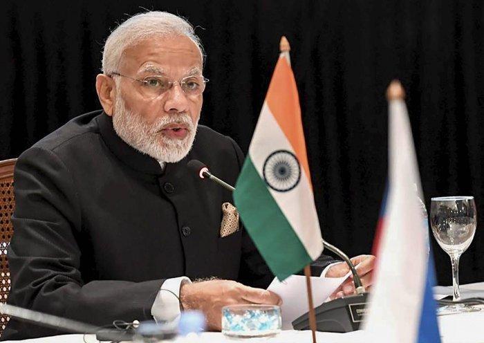 Prime Minister Narendra Modi speaks at G-20 summit, in Buenos Aires. (PIB Photo via PTI)