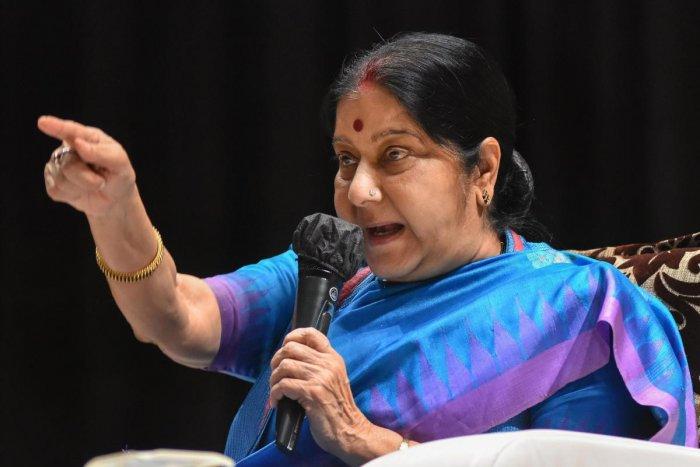 External Affairs Minister Sushma Swaraj. (PTI Photo)