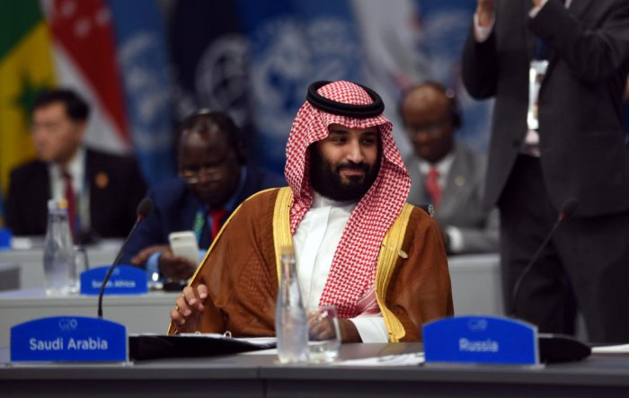 Saudi Arabia's Crown Prince Mohammed bin Salman attends the plenary session at the G20 leaders summit in Buenos Aires. (G20 Argentina/Handout via REUTERS)