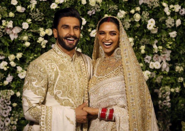 Bollywood actors Ranveer Singh and Deepika Padukone. Reuters photo