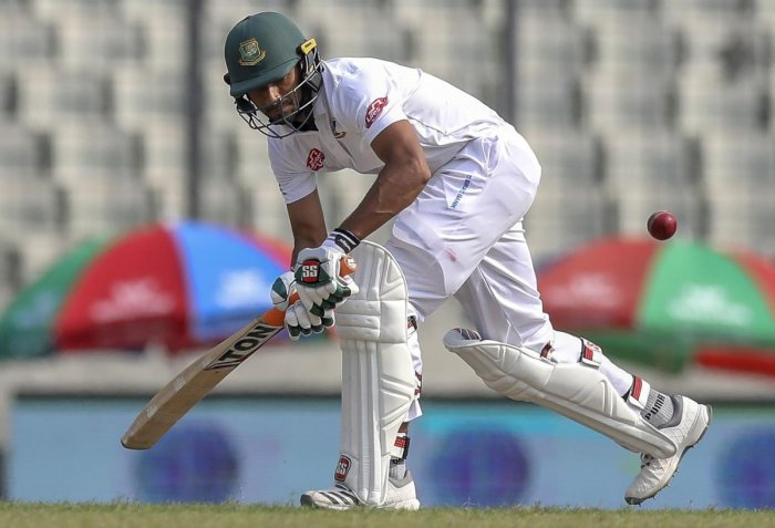 DEPENDABLE: Bangladesh's Mahmudullah Riyadh en route his 136 against the West Indies on the second day of the second Test in Dhaka. AFP