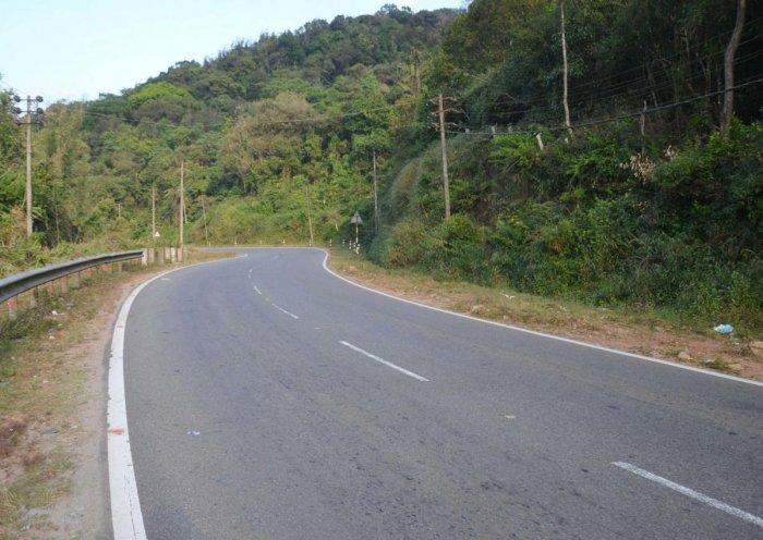 National Highway 275 passing through Madikeri and Kushalnagar.