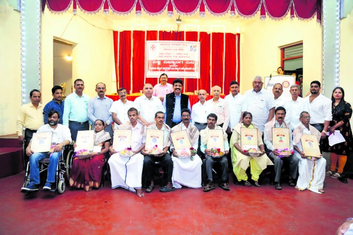 Nine differently abled persons were felicitated during the International Day of Disabled Persons programme organised by the Indian Red Cross Society Dakshina Kannada unit, Mangaluru Rotary District 3181 in association with the Dakshina Kannada and Udupi District Differently Abled Persons' Association at Rotary Bal Bhavan at Mannagudda on Monday.