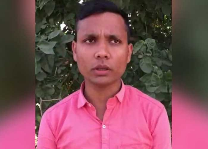 "Yogesh says in the video that in the alleged cow slaughter in Bulandshahr, which led to the violence, the police are ""portraying me as if I am a history-sheeter."" Video grab"