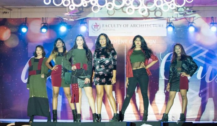 Students take part in the fashion show, at MIT in Manipal.