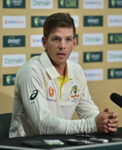 COMPOSED: Australian captain Tim Paine at a press conference ahead of the first Test at the Adelaide Oval in Adelaide on Wednesday. AFP