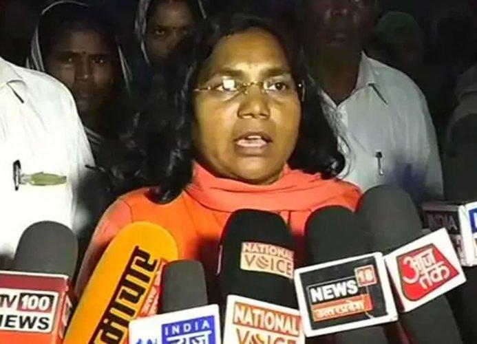 BJP Lok Sabha member Savitri Bai Phule. Image courtesy ANI