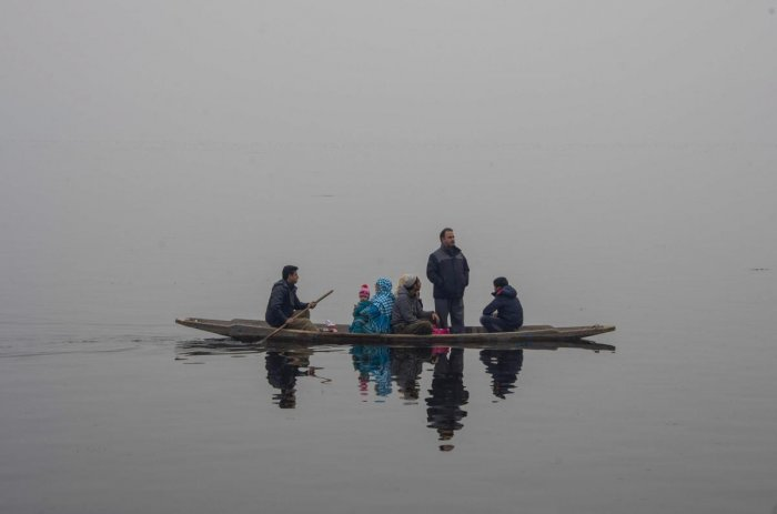 The lake was completely frozen twice in the last 52 years - in 1986 and 1964. The coldest temperature ever recorded in Kashmir was minus 14.4 degrees Celsius on January 31, 1893.(PTI File Photo)