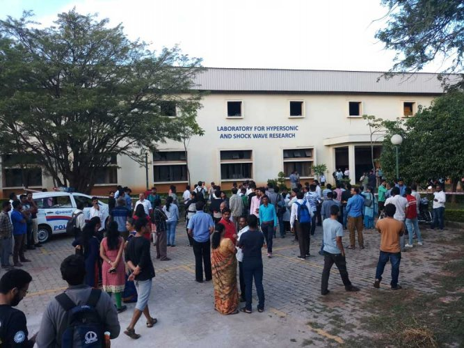 One of the three students who survived the blast at a laboratory in the Indian Institute of Science on December 5, does not recall the moment of the blast. (DH File Photo)