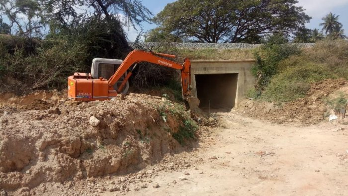 According to local corporator, one of the abandoned underpasses near the Belagere Lake would be ready for use by two-wheelers by Tuesday.