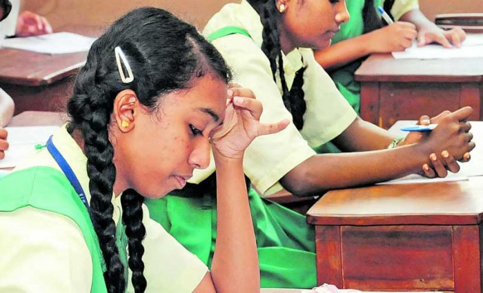 Around 55% of students could not give correct answers to most of the questions asked from social science, 58% in English and 45% in the Modern Indian Language (MIL). (DH file photo for representation)
