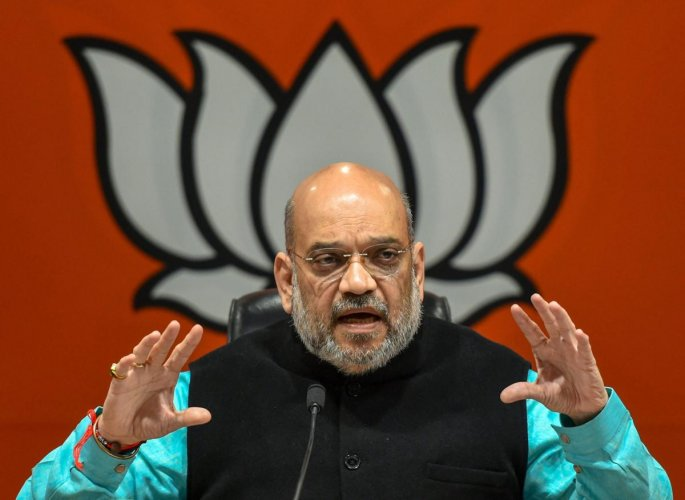 BJP chief Amit Shah said on Saturday that Indians have the right to the country's resources, and it is not a 'dharamshala' where illegal immigrants can come to settle down. PTI file photo