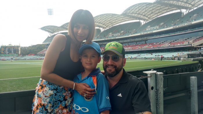 Born to Australian parents with multi-ethnic background, the seven-year-old is a huge fan of the right-hander who enjoys unparalleled following among cricketers across countries with Indian population.