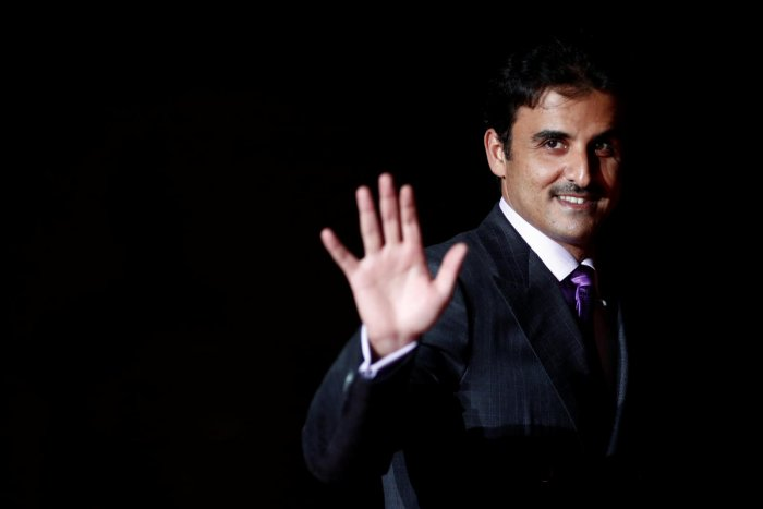 Qatar's Emir Sheikh Tamim bin Hamad al-Thani arrives to attend a visit and a dinner at the Orsay Museum on the eve of the commemoration ceremony for Armistice Day. Reuters file photo.
