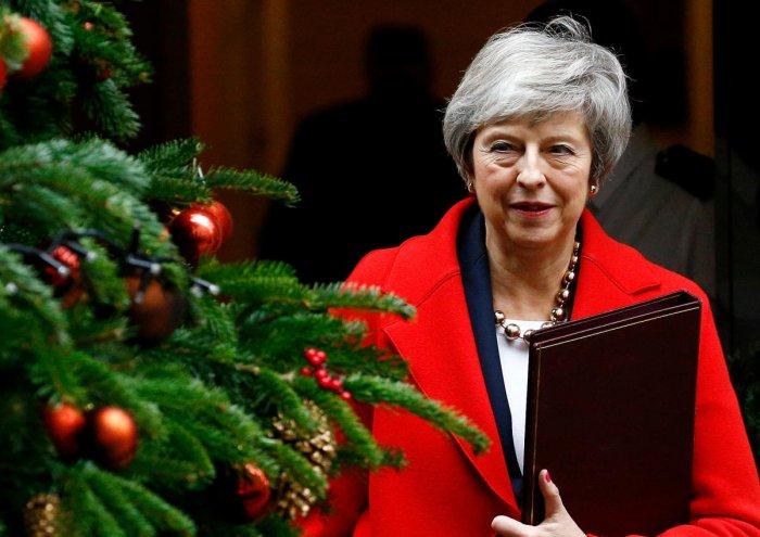 Theresa May leaves 10 Downing Street, London, Britain. Reuters file photo.