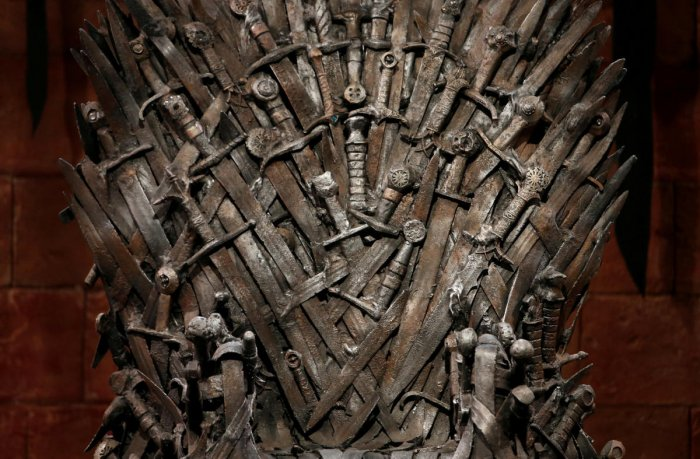 The Iron Throne is seen on the set of the television series Game of Thrones in the Titanic Quarter of Belfast, Northern Ireland. (Reuters File Photo)