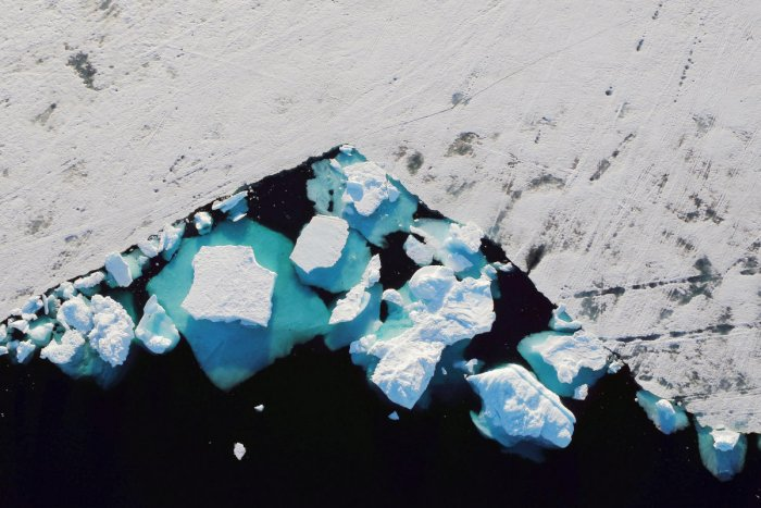 An iceberg floats in a fjord near the town of Tasiilaq, Greenland. (Reuters File Photo)
