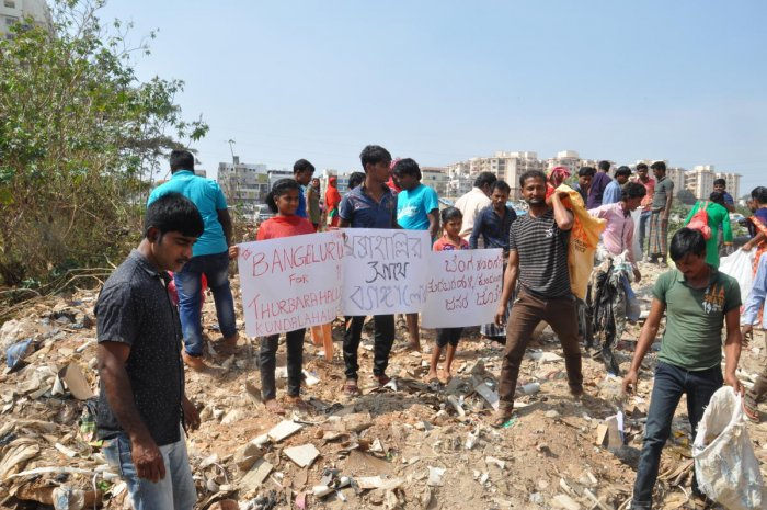 The migrant workers dwelling in slums of Thubarahalli and Kundalahalli near Bellandur in East Benagaluru sought a stay order to restrain BBMP from evicting them from the respective slums.