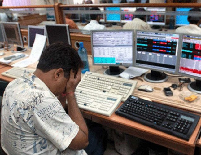 The BSE Sensex cracked below the 35,000 mark, plunging 713.53 points, or 2 percent, to close at 34,959.72. Similarly, the broader NSE Nifty fell 205.25 points, or 1.92 percent, to 10,488.45.
