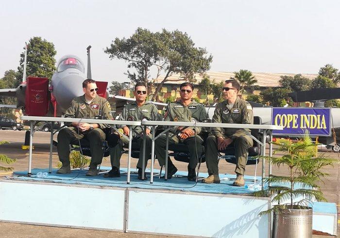 IAF and US Airforce officials at COPE India in Kalaikunda. (DH Photo/Soumya Das)
