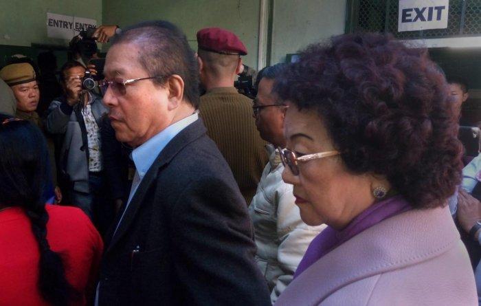 Mizoram Chief Minister Lal Thanhawla and his wife Lal Riliani. PTI File Photo